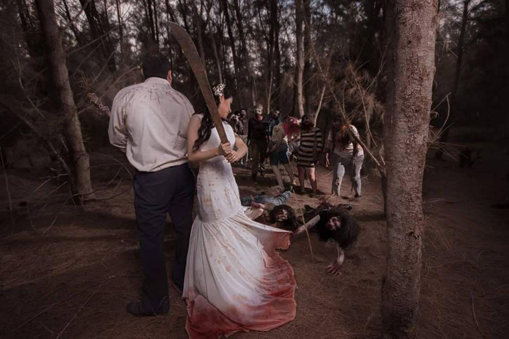Foto Prewedding Bertema Zombie Ini Unik Banget Kamu Tertarik Coba