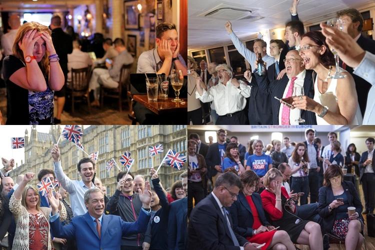 10 Foto ini tunjukkan ekspresi warga Inggris pascacerai dari Uni Eropa