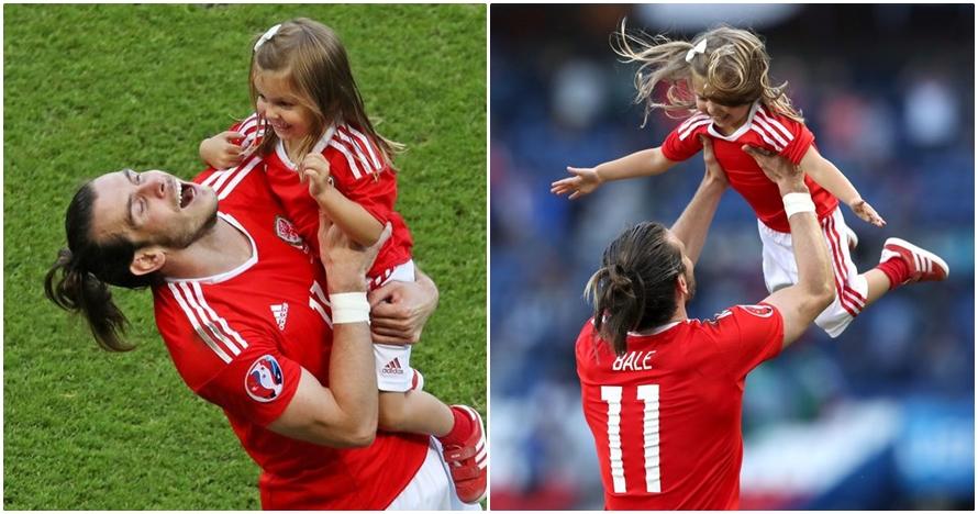13 Foto kebersamaan Gareth Bale dan anaknya ini bikin hati meleleh!