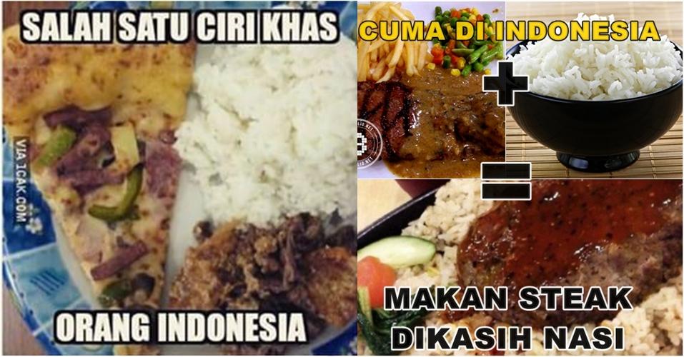 10 Meme ini buktikan orang Indonesia sulit move on dari nasi, kocak!