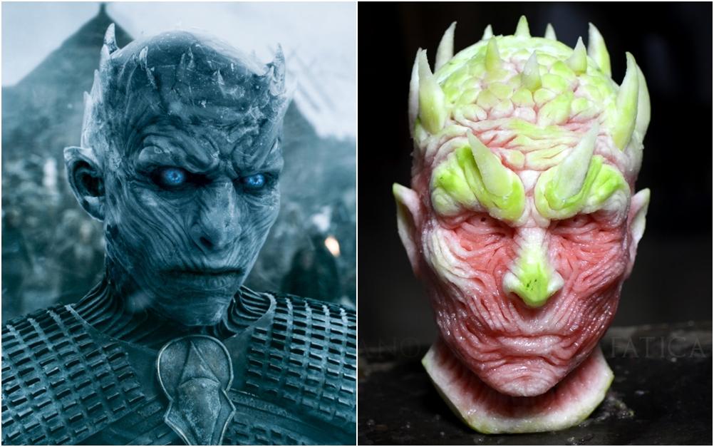 Ukiran semangka tokoh GoT- Night King ini ngeri, kamu berani makan?