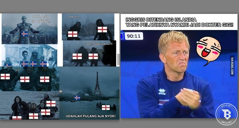 10 Meme iringi kemenangan Islandia, duh Inggris mudik duluan deh!