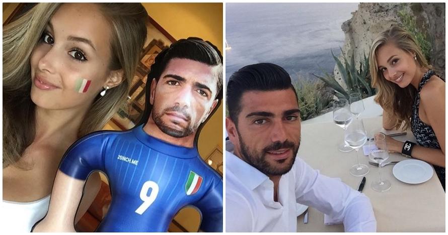10 Foto kekasih cantik dari penyerang Italia, bikin iri deh!