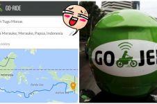 Ini tarif Gojek jika kamu pesan dari Jakarta ke Merauke, mau coba?