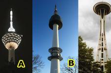 Sama-sama ramping & tinggi, tahukan kamu di mana 3 tower ini berada?