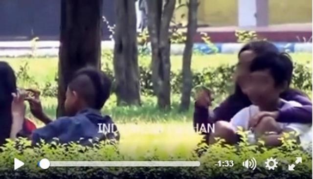 Bulan Ramadan, 2 pasangan anak SD ini ketangkap lagi asyik pacaran