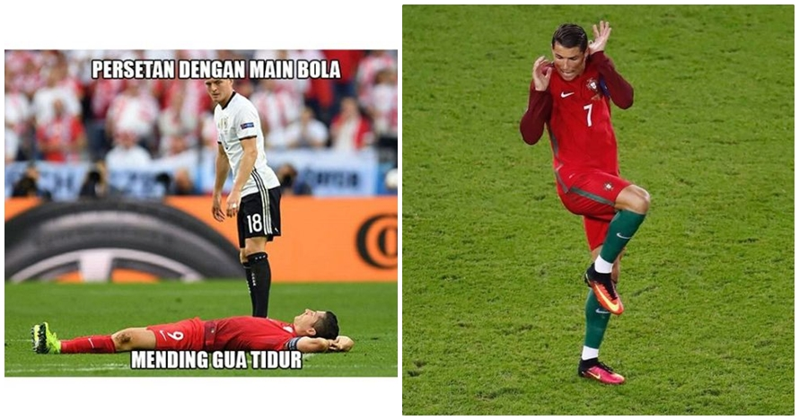 12 Aksi konyol bintang sepak bola Euro 2016 ini bikin kamu ngakak