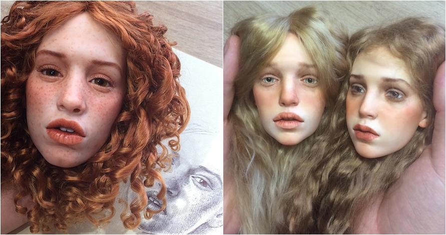 17 Karya seni boneka ini punya wajah mirip manusia asli, luar biasa!