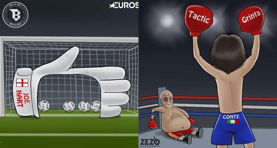 11 Kartun kocak ini buktikan bahwa EURO 2016 berlangsung panas!