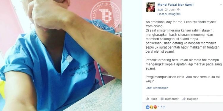 Pria Ini Gugat Cerai Istrinya Yang Menderita Kanker Stadium