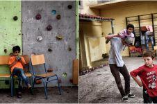 10 Foto kehidupan anak-anak pengungsi di gedung bekas kampus, miris!