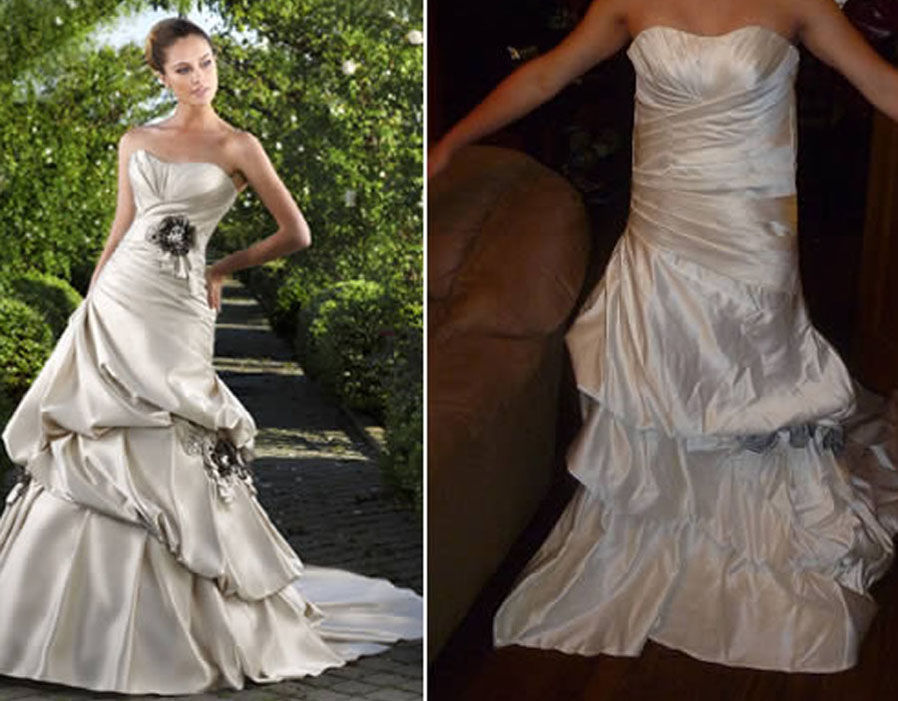 Expectation vs reality 22 worst online shopping fails ever for Buying wedding dress online