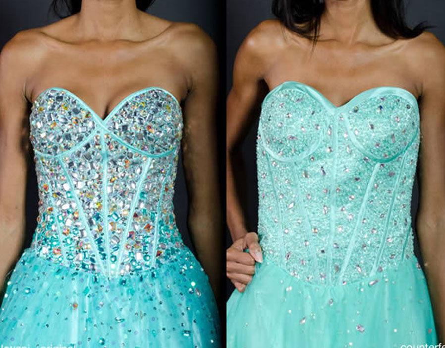 Платье на и в реале