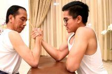 Jokowi adu panco dengan Kaesang, kocak abis! Siapa yang menang ya?