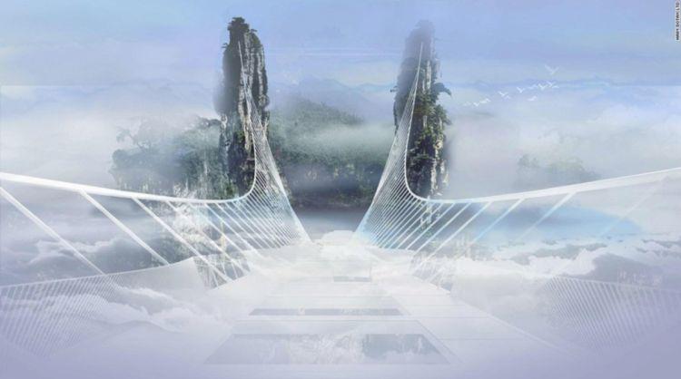 Jembatan kaca terpanjang di dunia diresmikan Juli ini, kamu mau coba?