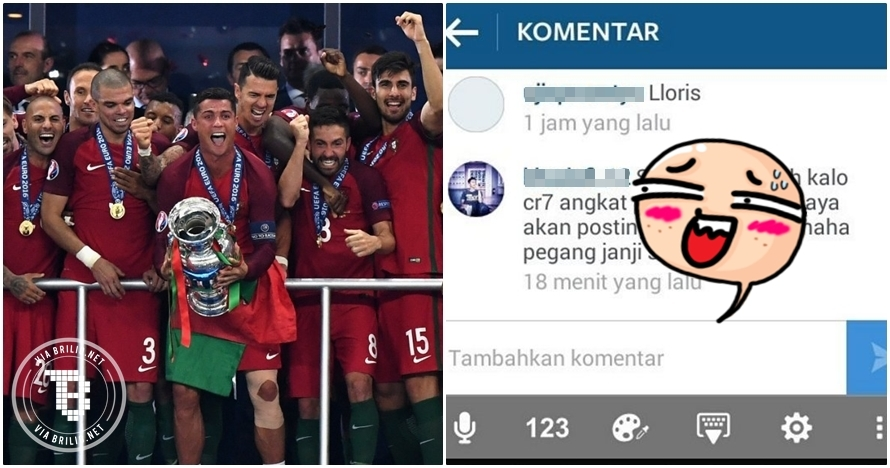 Janji foto bugil jika Ronaldo juara Euro, cowok ini dibully netizen