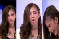 Model cantik ini kesurupan dan minta darah saat wawancara di TV, wah!