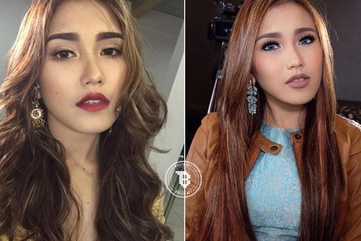 13 Gaya rambut artis cewek berambut lurus vs keriting a210d94278