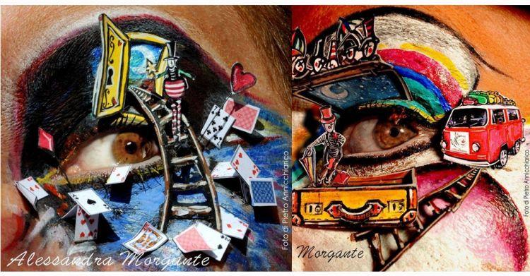 8 Lukisan di area mata ini benar-benar karya seni tingkat tinggi, top!
