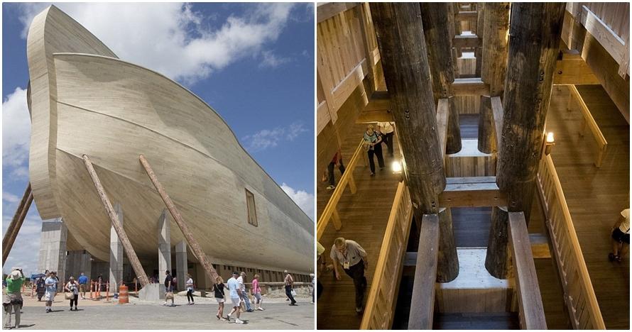 13 Foto replika perahu Nabi Nuh ini bikin kagum, minat ke sana?