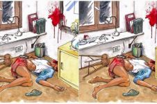 Coba tebak, gambar ini tunjukkan kasus pembunuhan atau bunuh diri?