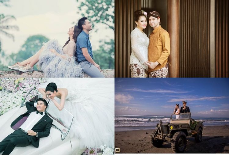 10 Foto prewedding pasangan artis ini bikin baper, romantis abis!