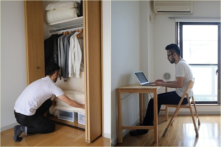 Fumio sasaki shows off his happy minimalistic life for Minimalist lifestyle