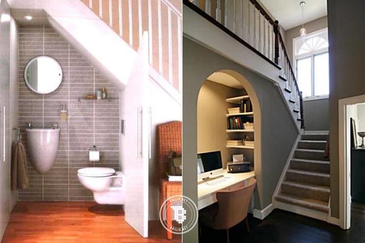 15 Cara unik & kreatif manfaatkan area kosong bawah tangga, keren!