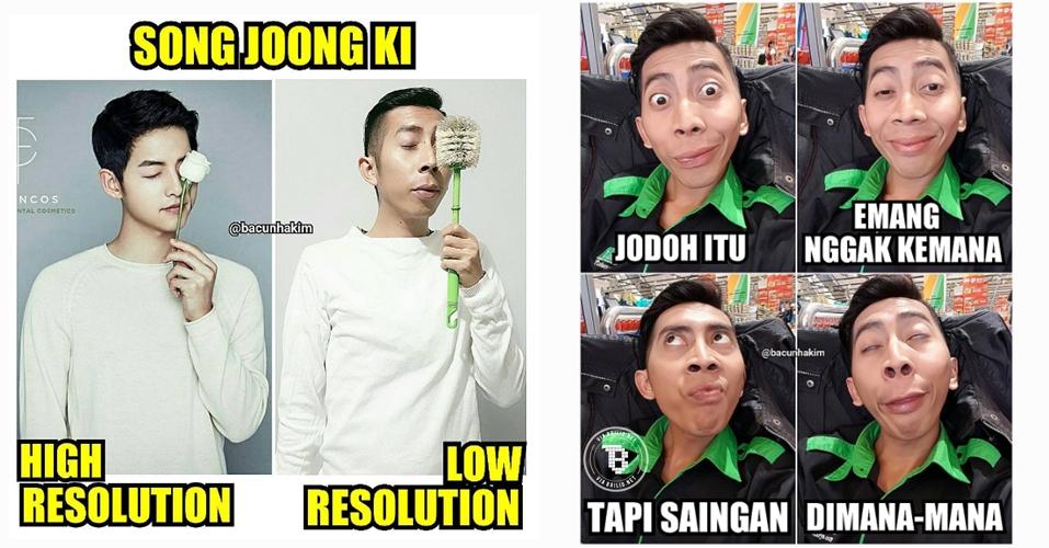 18 Meme kocak Bacun Hakim, si artis dengan seribu ekspresi