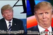 12 Ekspresi lucu Donald Trump, calon Presiden AS dari Partai Republik