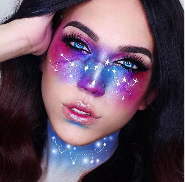 Galaxy Makeup  © 2016 brilio.net