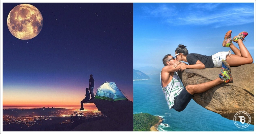 10 Foto pasangan romantis di tempat ekstrem, bagi jomblo sabar ya!