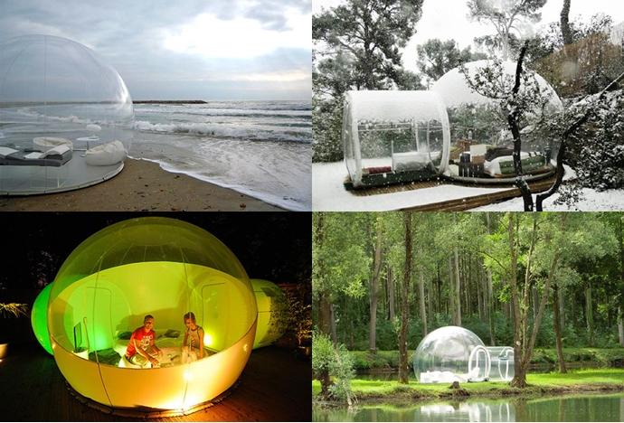 10 Foto kamar dalam gelembung yang keren abis, berasa melayang!