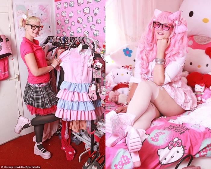 Demi koleksi Hello Kitty, cewek ini rela merogoh kocek setengah miliar