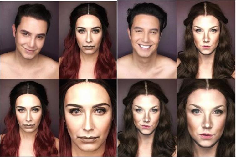 Lelaki ini lukis wajahnya seperti 7 karakter cewek di Game of Thrones!