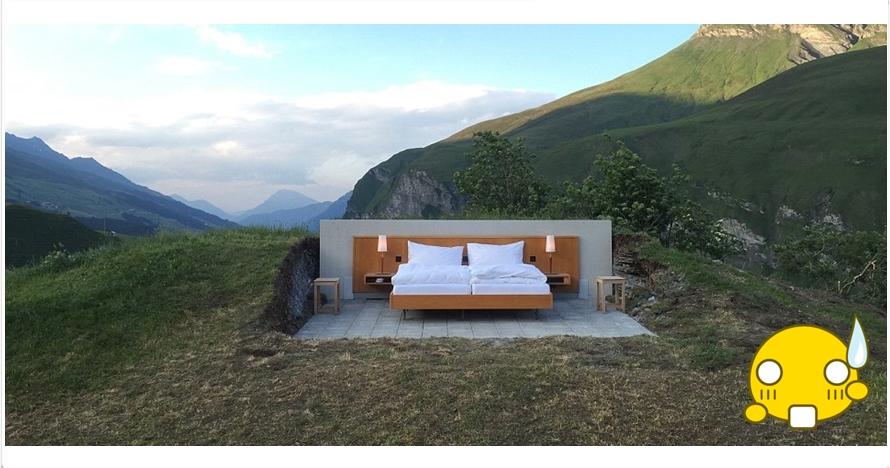Hotel ini tanpa atap dan dinding , unik banget ya!