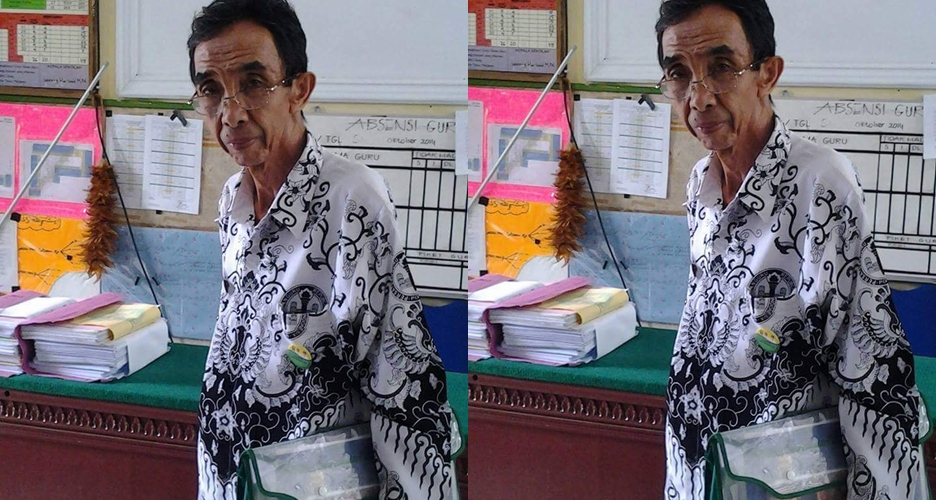 40 Tahun berstatus honorer, Kakek Maman tetap semangat mengajar