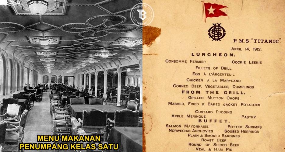 Ternyata ini menu makanan penumpang Titanic, tiap kelas beda lho!