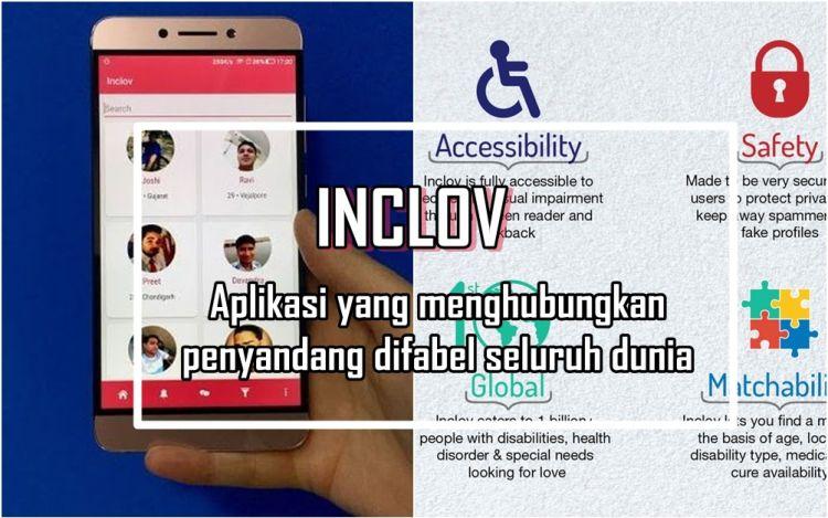 Inclov, aplikasi biro jodoh yang hubungkan sesama penyandang difabel