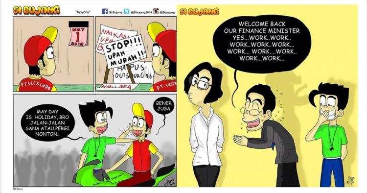 10 Komik strip sindir perilaku buruk orang Indonesia ini kocak abis