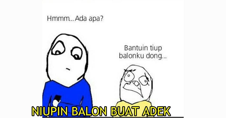 7 Komik niupin balon buat adik ini lucu banget, kamu pasti pernah!