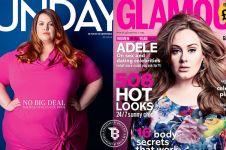 15 Foto ini bikin salut, wanita tambun pede jadi model sampul majalah!