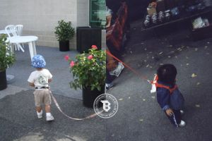 15 Potret anak diasuh dengan diikat tali anjing ini bikin miris