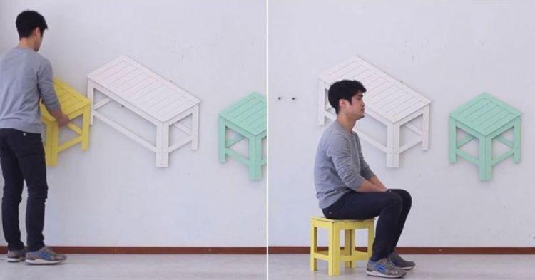 Kursi ini bisa berubah seketika dari 2D jadi 3D, wow ajaib!