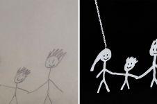 Seniman ini wujudkan gambar anak-anak jadi liontin kalung, keren!