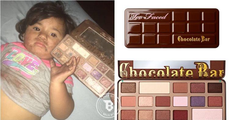 Dikira cokelat, bocah 2 tahun ini makan eye shadow palette