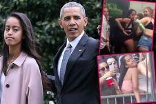 Aksi joget liar putri Obama bikin heboh, kayak apa sih?