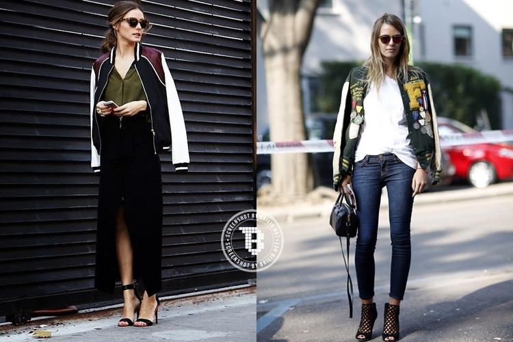 10 Style keren dengan bomber jacket ini boleh juga kamu tiru, ladies!