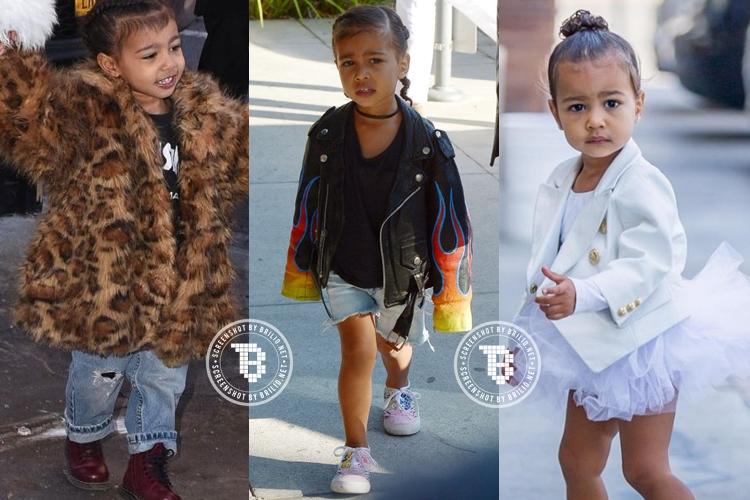 12 Style North West, nggak kalah hits dari  sang ibu Kim Kardashian