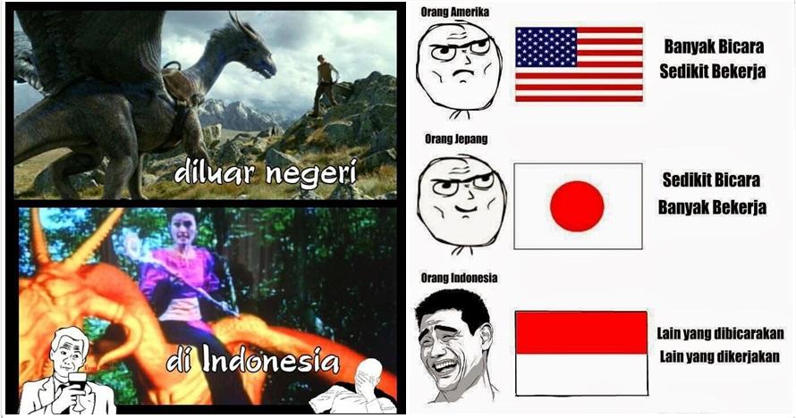 12 Meme beda Indonesia dengan luar negeri ini bikin kamu ketawa miris!